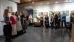 На открытии выставки «Сентиментальное путешествие»