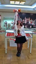 Елена Баймяшкина на выставке ''Искусство чувашского народа''