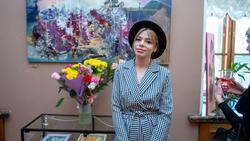 На выставке Елены Острой в Казанской Ратуше