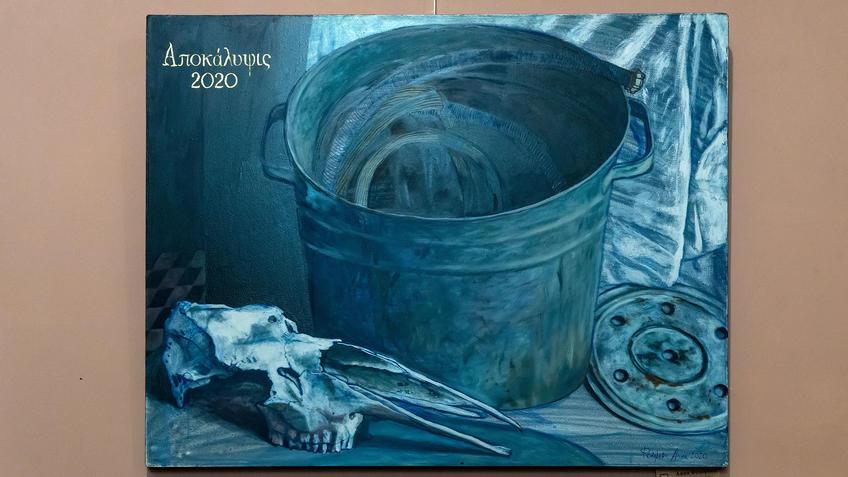 Апокалипсис 2020 (Натюрморт) Анна Федорова::«Апокалипсис. Возрождение ». Адель Халиуллин (скульптура), Анна Федорова (живопись)