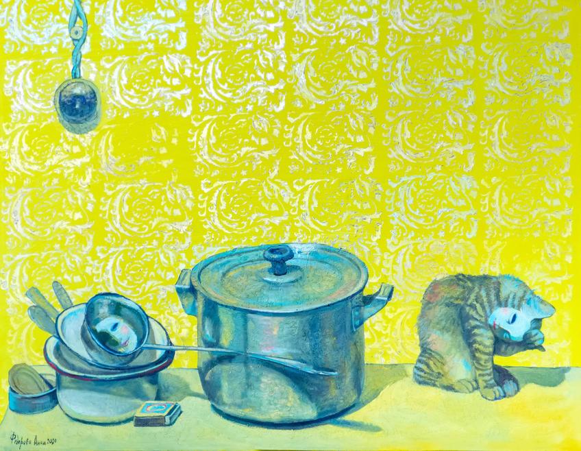Картина Анны Федоровой::«Апокалипсис. Возрождение ». Адель Халиуллин (скульптура), Анна Федорова (живопись)