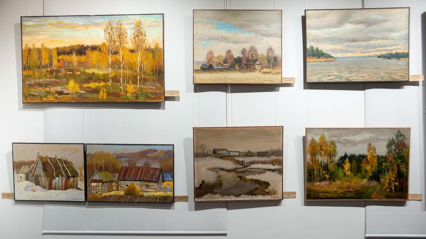 Фрагмент экспозиции. 7 работ Александра Чёрного::«7Я» выставка Александра и Алексея Чёрных