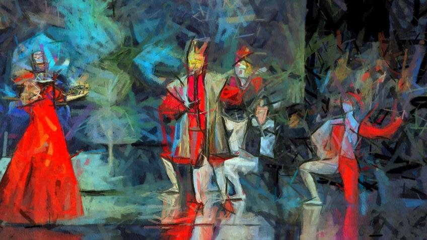 Пиковая дама. Иллюстрация. 2021. Елена Сунгатова::«Пиковая Дама». П.И.Чайковский, опера в 3-х действиях